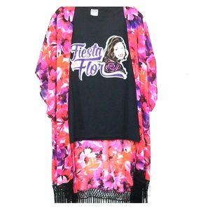 Selena Fiesta De La Flor Black T-shirt size M